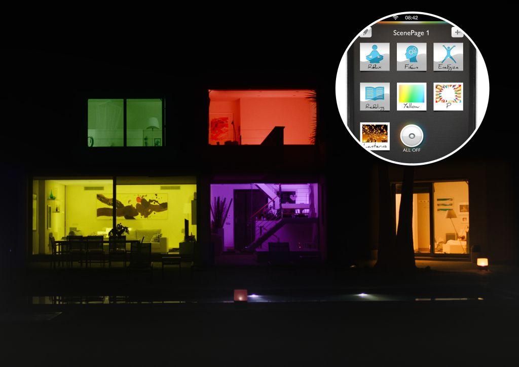 mit smartphone app licht steuern die. Black Bedroom Furniture Sets. Home Design Ideas