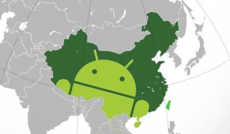 China und die USA sind Märkte mit dem größten Android Anteil.