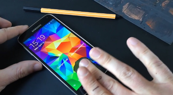Galaxy S5 Fingerabdrucksensor Hack