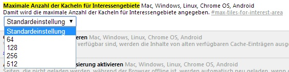 Chrome Einstellung