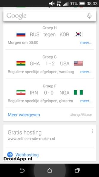 Google Now Werbung