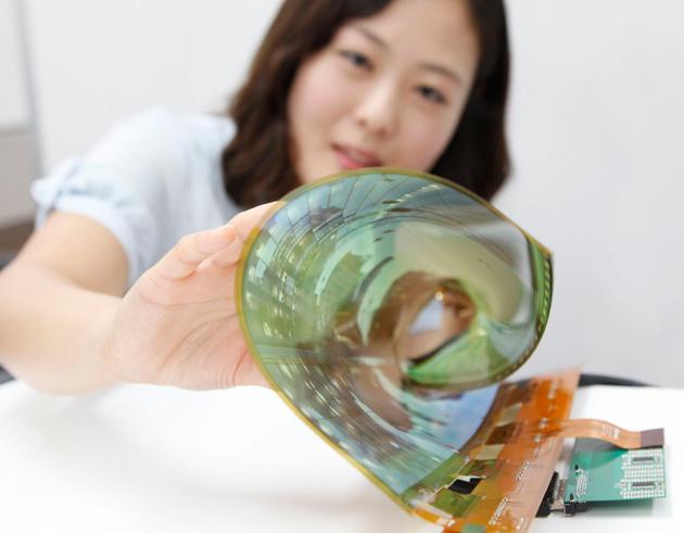LG Fernseher OLED TV biegsam flexibel
