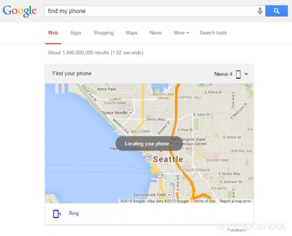 Find my Phone Google Suche