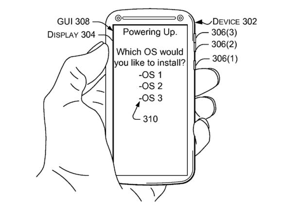 Microsoft Patent Multi OS Smartphone