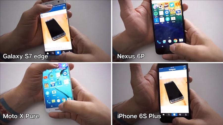 Smartphone Vergleich Galaxy S7 iPhone 6s Plus Nexus 6P Moto X Pure