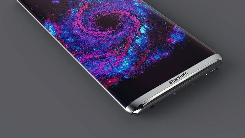 Samsung Galaxy S8 Curved Display Konzept